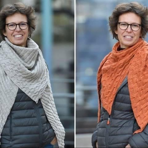 Crossing lines -a scarf with cables in 2 variations