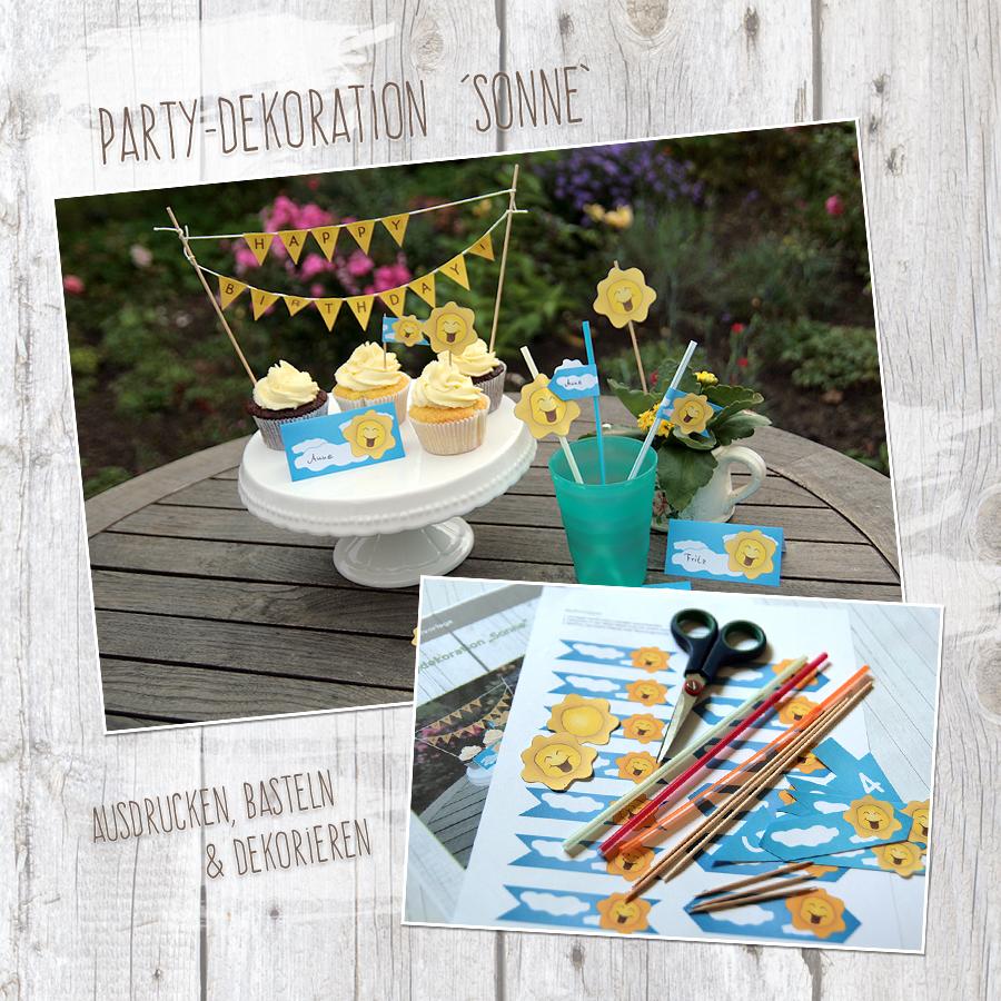 """Sonne"" - DIY Partydekoration"