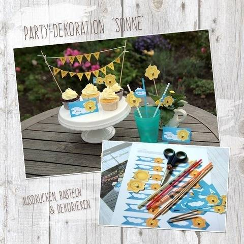 """Sonne"" - DIY Partydekoration"