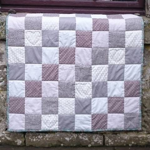 Baby quilt or throw PDF quilt pattern CLOUDS AND SMOKE at Makerist