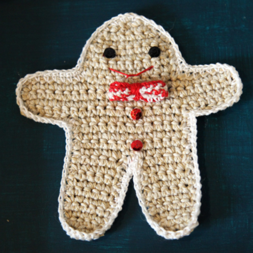 Gingerbread de Noël - Tutoriel au crochet
