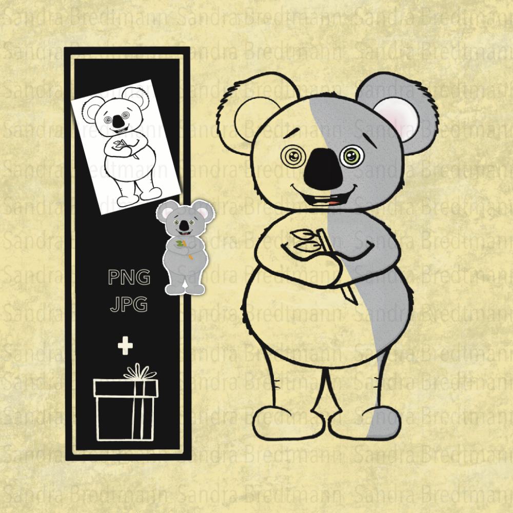 Koala Bär digi stamp digitaler Stempel
