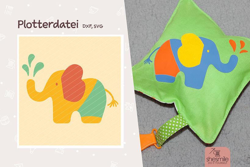 """Elefant """"Nelefant"""" (Plotterdatei / Illustration) bei Makerist - Bild 1"""