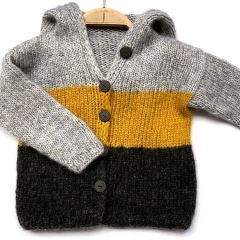 Strickanleitung Kapuzenjacke Betty Kinderjacke Gr 80-140 bei Makerist