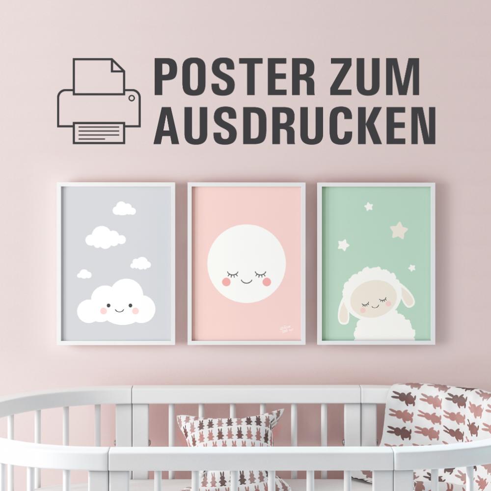Welcome Little One Poster A4 zum selber Ausdrucken - Girl