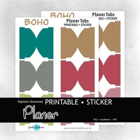Planer Boho Tab printable Index Laschen