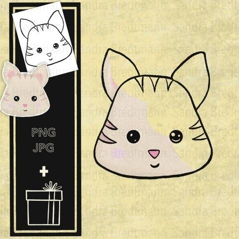 Katze digi Stamp digitaler Stempel + Überraschung
