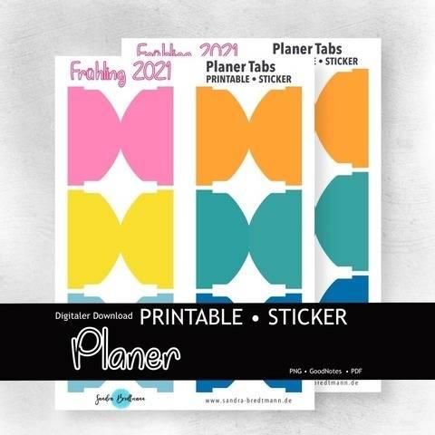 Planer Frühling Tab printable Index Laschen