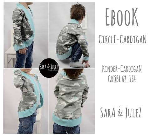 "Ebook Kinder-Cardigan ""Circle-Cardigan"" Größe 68-164"