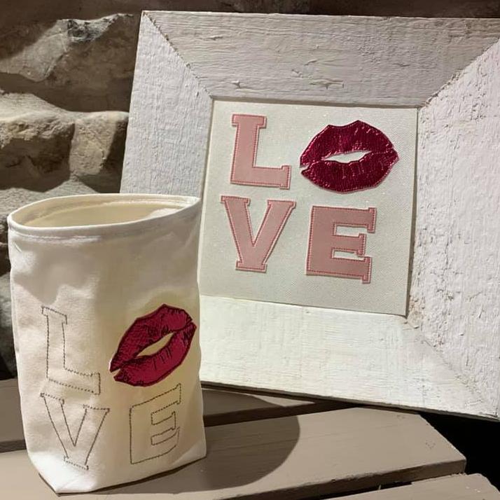 Stickdatei Love Kiss Doodle