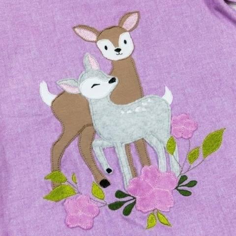 Stickdatei Mama mit Kitz im Blumenbouquet Doodle