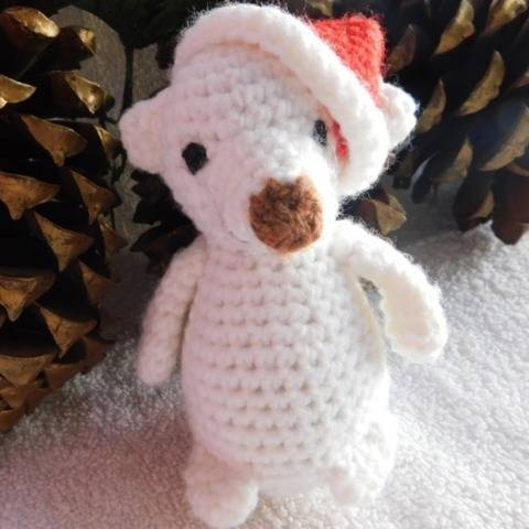 Little Christmas Bear amigurumi