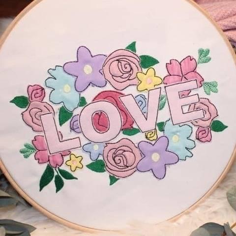 Stickdatei Flower Love Doodle