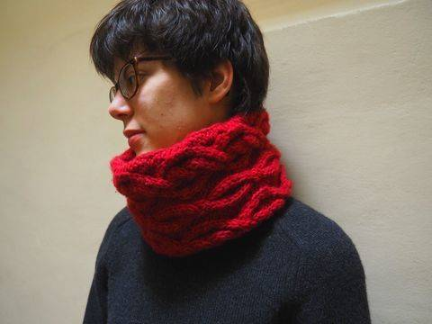 Snood Corinthe - explications tricot chez Makerist