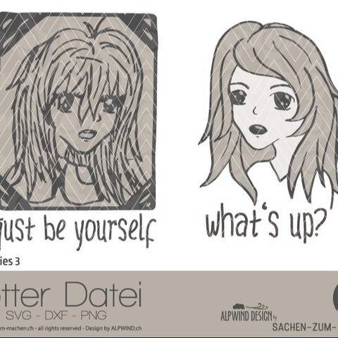 "Plotter-Datei ""comic girlie"" #3"