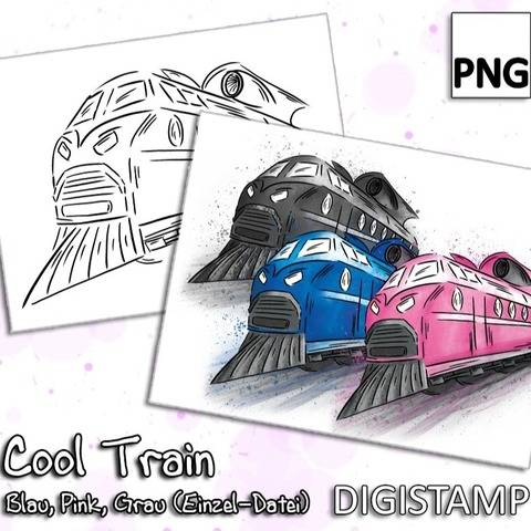 Cool Train (Zug) - DigiStamp Einzeldatei