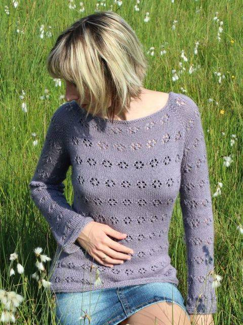 Strickanleitung Pullover Lavender Honey