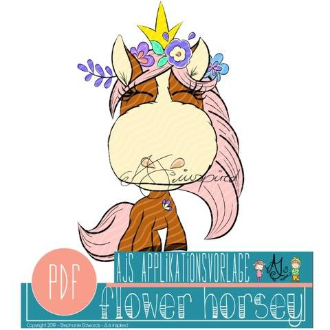 Flower Horsey - Applikationsvorlage