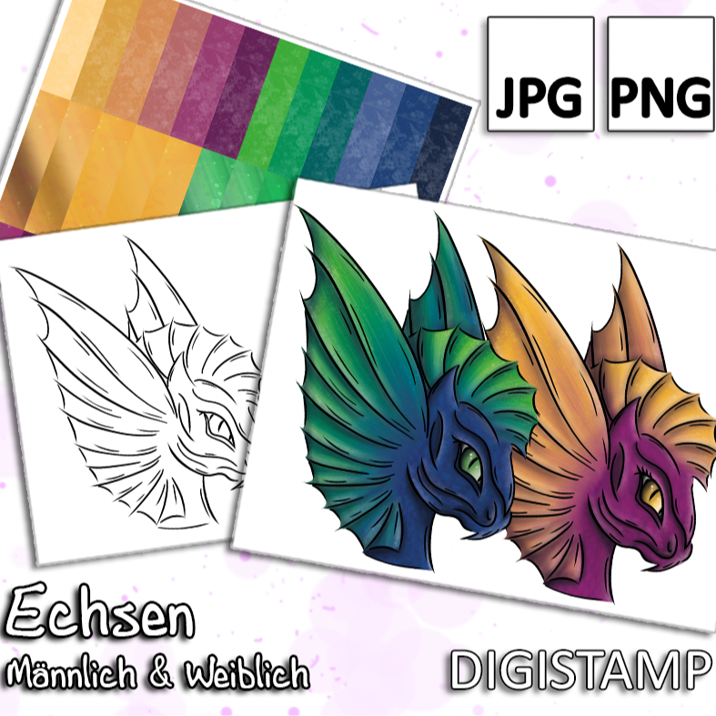 Echsen - DigiStamp