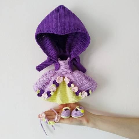 Prinzessin Outfit für Puppe