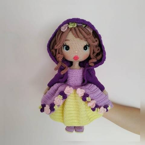 Astrid Doll crochet pattern in Princess outfit
