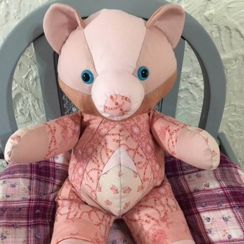 Patron ours Babylove patchwork