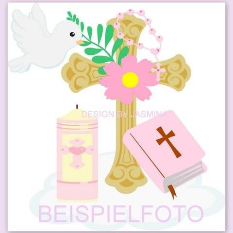 Plotterdatei Taufe Kirche Kerze Blume SVG 4