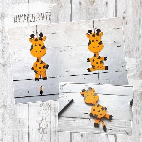 """Hampelzoo """"Giraffe"""" - Bastelanleitung"""