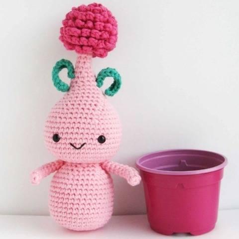Amigurumi Flower Allium Bulb Doll Crochet Pattern PDF file