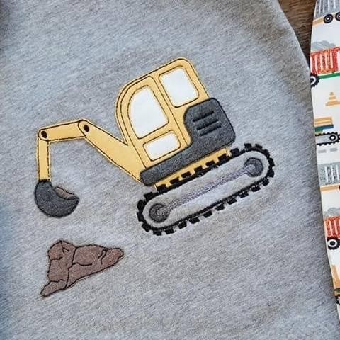 Stickdatei Bagger Doodle Set
