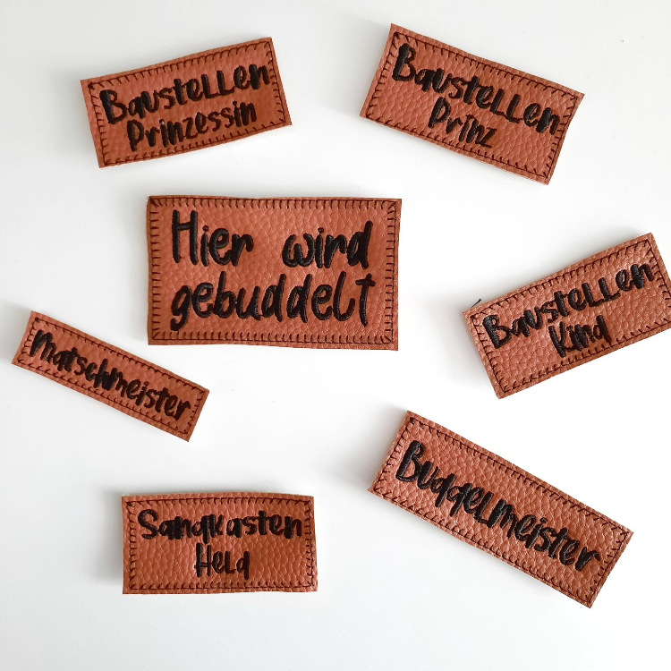 Stickdatei Baustellen-Labels Set