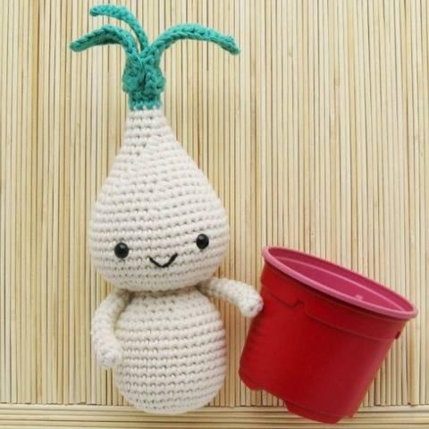 Amigurumi Plant Flower Onion Bulb Doll Crochet Pattern PDF