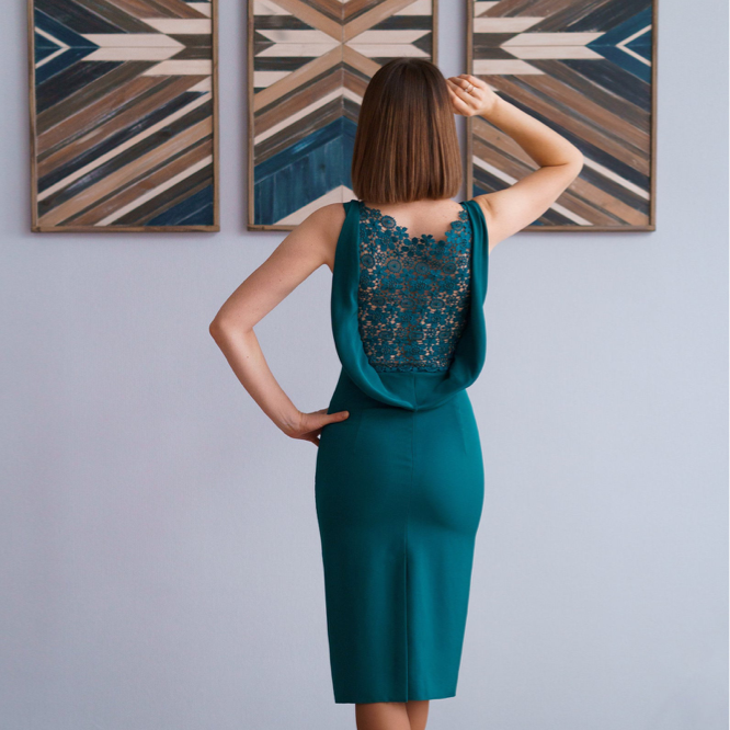 Party Emerald Dress PDF sewing pattern - Size M - Format A4