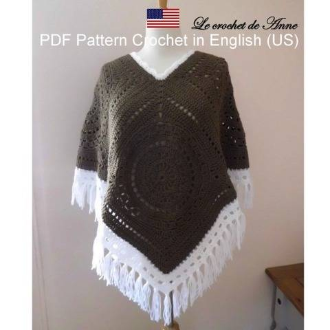 PDF PATTERN IN ENGLISH (US) - PONCHO Bohemian