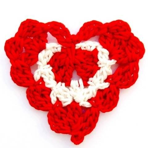 Crochet Pattern Heart Motif e-book PDF file Instant Download
