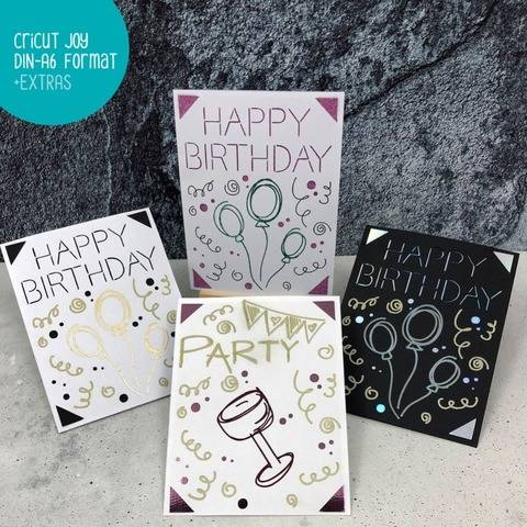 KARTENDESIGN Happy Birthday – Cricut/Karte