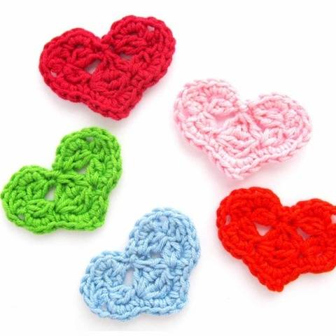 Heart Applique Crochet Pattern PDF file Instant Download