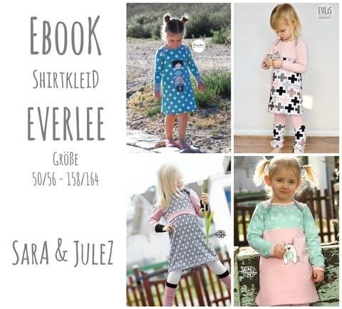 Ebook Shirtkleid EVERLEE Gr. 50/56 - 158/164