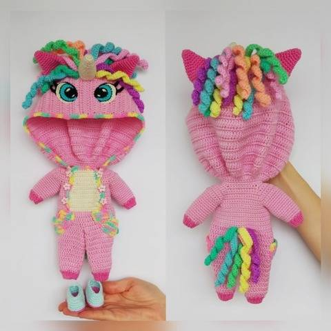 Crochet Unicorn outfit pattern for Astrid doll