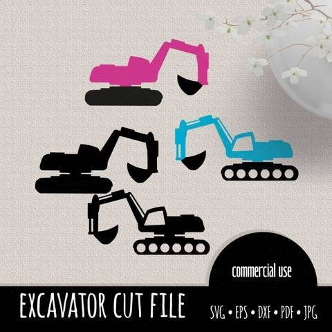 excavator cutting files SVG