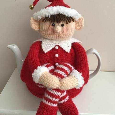 Cheeky elf tea cosy knitting pattern