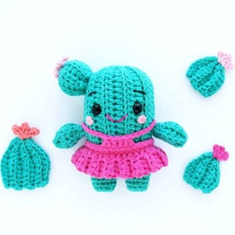 Amigurumi Cactus Crochet Pattern E-book instant download