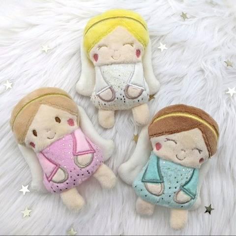 Stickdatei Puppe - Schutzengel, Minipuppe, Elfe 10x10 cm