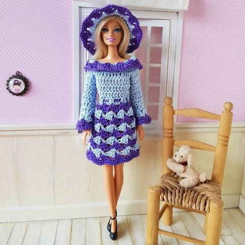 """Milena"" crochet pattern for Barbie"
