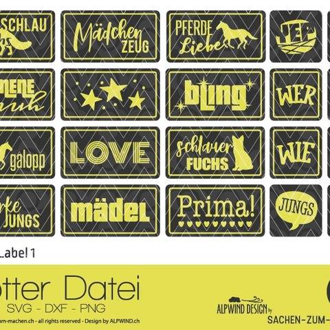 "Plotter-Datei ""Kinder Label"" #1"