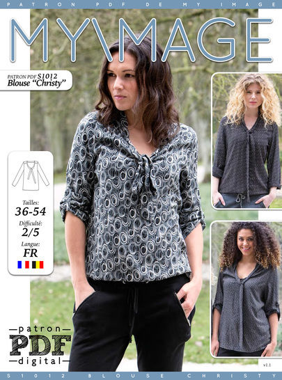 Blouse CHRISTY Patron de Couture + Tutoriel chez Makerist - Image 1