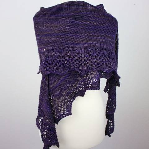 "Knitting pattern shawl ""Willow"""