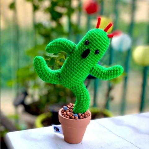 Crochet Pattern - Amigurumi Cactuar Final Fantasy