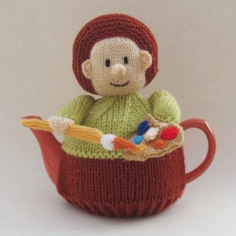 Artist Tea Cosy Knitting Pattern