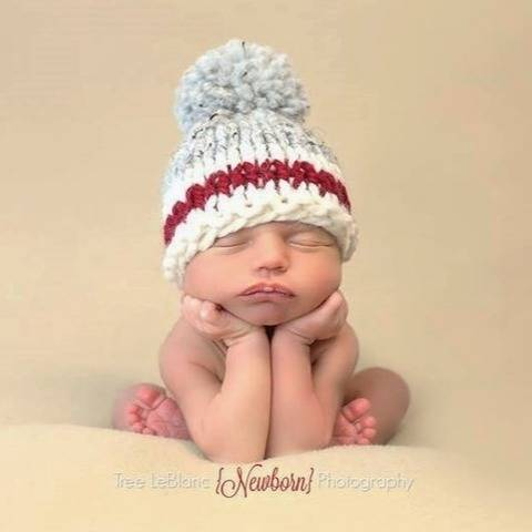 Roots Sock Monkey Red Stripe Hat Winter Toque Baby